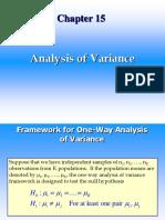 Analysis of Variance