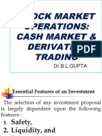 Stock Market Operations and Derivative Trading