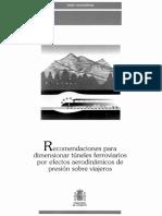Dimensionamiento de túneles de FFCC