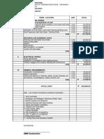 Cost Proposal - Sm Manila