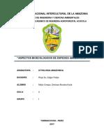 Aspectos Ecologicos de Las Especies Amazonicas