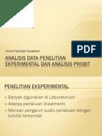 Analisis Data Penelitian Ekperimental Dan Analisis Probit