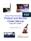 PSC Manual - Product and Service Codes Manual- Final - 11 August 2011