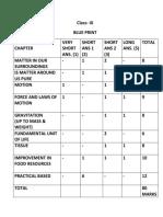 Science Sample Paper of Class IX