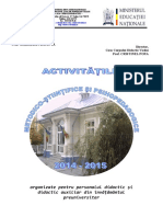 Oferta de Activitati 2014-2015