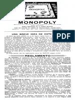 Monopoly 1954 Spanish
