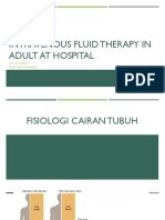 Intravenous Fluid Therapy in Adult at Hospital