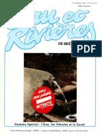 059 Eau & Rivières 59 - 1er Trim 1987 - l'Eau Les Nitrates La Santé
