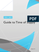 Guide to Time of Supply
