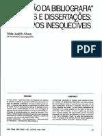 A Revisão Da Bibliografia - Alda Alves