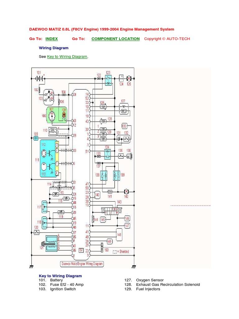 matiz - engine wiring diagram.pdf | ignition system | vehicles  scribd