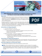 "Privacy ""Safeguarding"" Pii Fact Sheet"