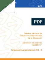 Guia lineamientos generales Saber 11 2014-2.pdf