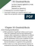 Ch 18 Granitoid Rocks