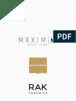Catalogo Maximus 2017 Solid Surface Lr