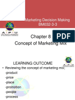 Chapter 8 - Concept of Marketing Mix
