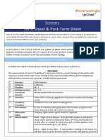 Summary_Term Sheet & Post Term Sheet