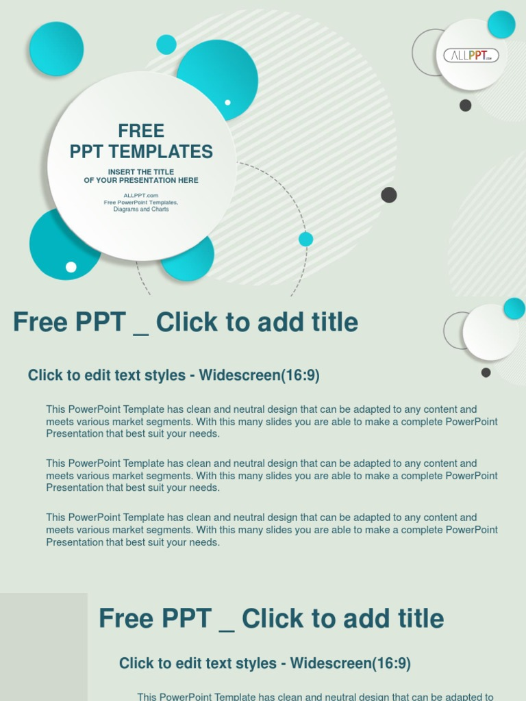 abstract design circle bubble powerpoint templates widescreen pptx