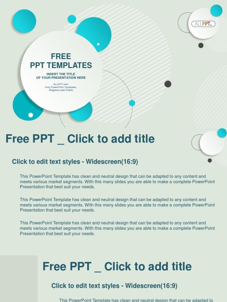 abstract design circle bubble powerpoint templates widescreen pptx