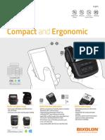 Bixolon 3 Inches Thermal Mobile Printer Usb Bluetooth