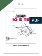 Scaricare Libri Gratis Io e Te (PDF - EPub - Mobi) Di Niccolò Ammaniti