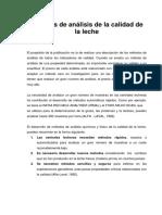 Métodos de Análisis de La Calidad de La Leche