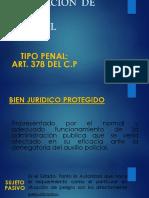 Denegacion de Auxilio Policial,Nombramiento Ilegal Para Cargo Publico,Aceptacion Ilegal Pa Cargo Publico,Ejercicio Ilegal de La Profesion y Colusion Penal 3 Sube 1