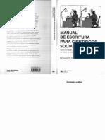 Becker, H. (2011). Manual de Escritura Para Cientificos Sociales.
