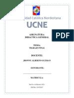 Trabajo Final Didactica General - UCNE