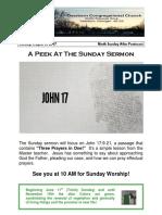 Pastor Bill Kren's Newsletter - August 6, 2017