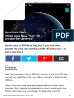 BBC - Earth - When Does New Year Fall Around the Universe
