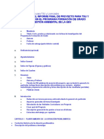 Estructura de Proyecto Para TSU y Licenciados