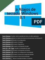 Lista Atajos de Teclado Windows 8