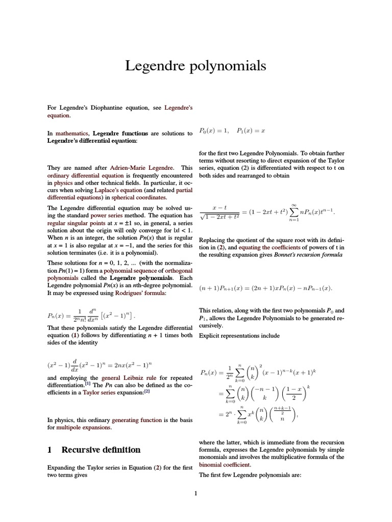 Beaches] Matlab legendre polynomial