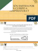 Radiación Emitida Por Un Cuerpo a Temperatura t