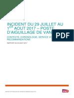 Le rapport de SNCF suite à l'incident en gare Montparnasse