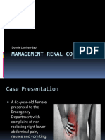 Management Renal Colic Oleh Dr. Donnie
