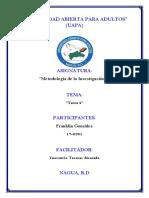 Metodologia de La Investigacion Tarea 2 - Franklin Gonzalez