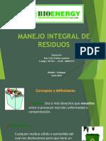 Manejo Integral de Residuos Agrinag 2017