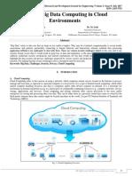 Secured Big Data Computing in Cloud Environments