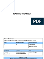 Teaching Organiser 12