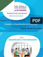 Constitución Empresa en Perú - Curso de Derecho Comercial