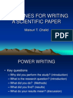 Guidelines for Writing a Scientific Paper