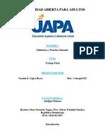 Trabajo Final - Yazmin Lopez - Didáctica y Práctica Docente.docx