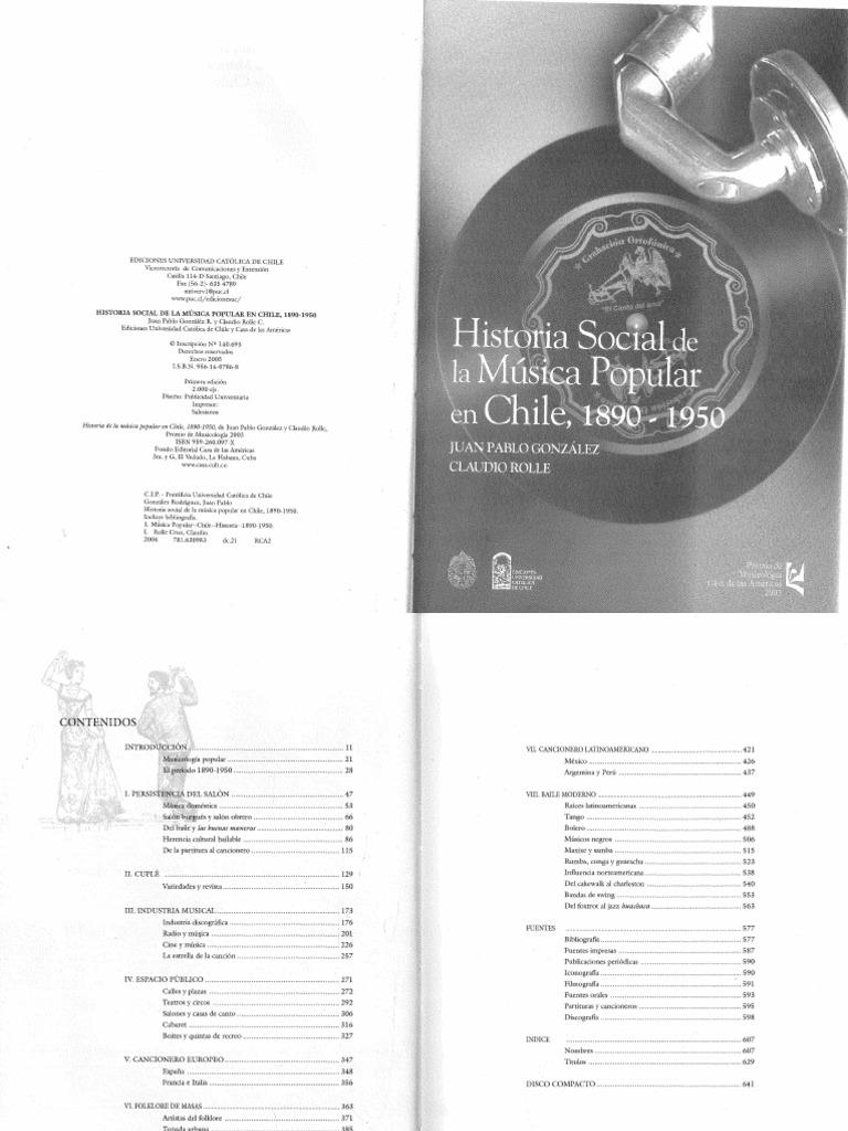 8365bfcf5480 Gonzalez Juan Pablo Historia de La Música Popular en Chile