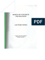 Design of Concrete Foundations (Lecture Notes)