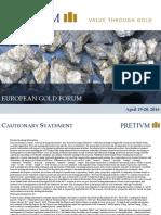 Pretivm European Gold Forum APR 2016