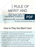 Merit and Seniority