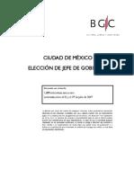 Preferencias electorales para la CDMX 2018