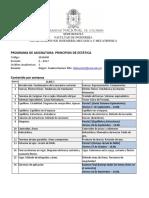 Programa Principios de Estatica 2017-II
